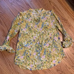 Old Navy Floral Button Down Shirt